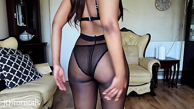 Ebony Pantyhose try on 20