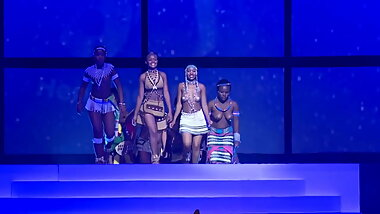 South African topless cultural show