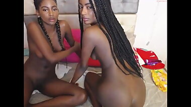Real Black Sisters On Webcam