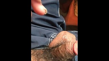 ROCK MERCURY JERK OFF AFTERMATH CUM DRIPPING OVER HAIRY BUSHED THICK COCK THROBBING NUDIST FUN