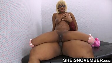 Msnovember Ebony Anal Cowgirl Riding, Black Butt Stuffed With Step Dad BBC on Sheisnovember