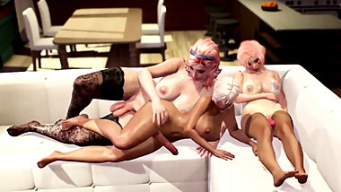 3D Futa Story - Shemale Sex after Wedding